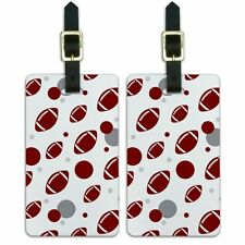 Luggage Suitcase Carry-On ID Tags Set of 2 Football