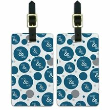 Luggage ID Tags Set of 2 You and Me Love Relationship Girlfriend Boyfriend