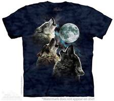 THREE WOLF MOON IN BLUE ADULT T-SHIRT THE MOUNTAIN