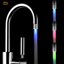 LED Light Water Faucet Colors Changing Glow Shower Stream Tap Kitchen Decoration