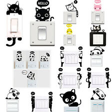 Various Wall Stickers Light Switch Decal Art Mural Living Room Decor Cute Animal