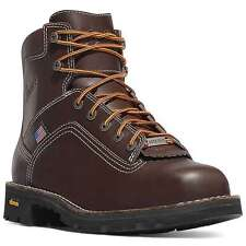"Danner USA Made  #17301 Plain Toe  6"" Quarry Gore-tex Work Boot."