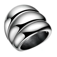 Unique Design Stainless Steel 3 Ring Joint Pattern Ring Men's Wedding Accessory