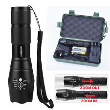 5000LM X800 CREE XM-L T6 LED 18650 Flashlight Tactical Torch Zoomable Lamp G700