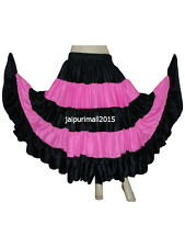 New Satin Gypsy 16 Yard Skirt 4 Tiered Tribal Belly Dancing Skirts ATS SKIRTS