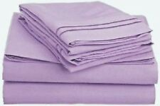 AU Bedding Collection  - 1000 TC 100% Egyptian Cotton Lavender Solid