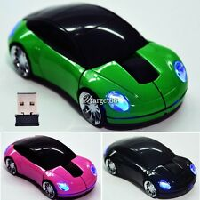 New 2.4G Car Shape Wireless Optical Mouse Mice For Laptop PC USB Receiver UTAR