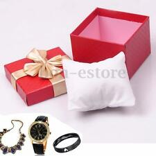 10 Pillow Pad Red Watch Jewellery Bracelet Gift Paper Cardboard Storage Case Box