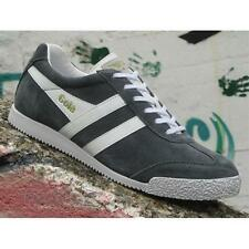 Gola Harrier Suede CMA192DS Mens Shoes Graphite White Casual Sneakers