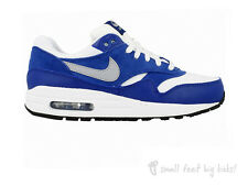 NIKE AIR MAX 1 TRAINERS WHITE BLUE 4 5 5.5 UNISEX BOYS GIRLS 90 95 97 HUARACHE