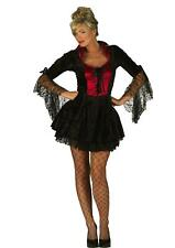 Ladies Womens Gothic Vampire Burlesque Fancy Dress Costume Sexy Halloween Red