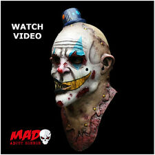 Deluxe MIME ZACK Latex Evil Clown Mask-Horror Halloween Zombie Costume SCARY!
