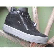 Shoes Igi&Co Sneaker High Heels 67545 00 Woman Suede Glitter Black Grey