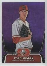 2012 Bowman Platinum Prospects Retail Purple Refractor #BPP42 Tyler Skaggs Card