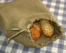 Linen Bread Bag. Food Storage Bag. Vegan Reusable Bags. Pure Linen Eco Friendly