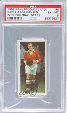 1958 Kane International Football Stars #6 Karle Aage Hansen PSA Denmark Card