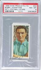 1958 Kane International Football Stars #23 Bobby Johnstone PSA 8 Manchester City