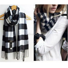 Women's Winter Neck Scarf Warm Long Checked Plaid Wrap Shawl