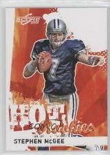 2009 Score Hot Rookies #29 Stephen McGee Dallas Cowboys Rookie Football Card