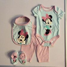 DISNEY BABY MINNIE MOUSE 4 PC LAYETTE GIFT SET