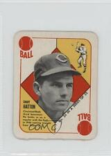1951 Topps Red Backs #34 Grady Hatton Cincinnati Reds Baseball Card