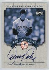 2003 Upper Deck Yankees Signature Series #PN-CO David Cone New York Auto Card