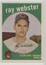 1959 Topps #531 Ray Webster Cleveland Indians RC Rookie Baseball Card