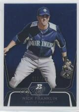 2012 Bowman Platinum Prospects Blue Refractor #BPP54 Nick Franklin Baseball Card