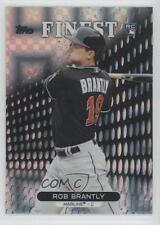 2013 Topps Finest X-Fractor #56 Rob Brantly Miami Marlins Rookie Baseball Card