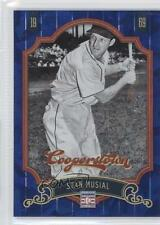 2012 Panini Cooperstown Blue Crystal Collection #92 Stan Musial Baseball Card