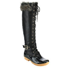 Nature Breeze Women's Knee High Lace Up Insulated Boots Half Size Small DUCK-10H