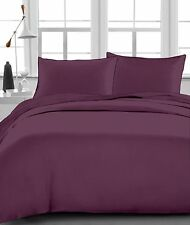 1 Fitted Sheet, 2 Pillow case 1000 TC Egyptian Cotton Wine Solid