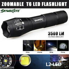 3500 Lumen 5 Modes CREE XM-L T6 LED Torch Powerful Camping Flashlight Zoom Light