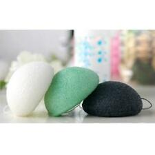 Round Natural Konjac Fiber Facical Cleansing Puff Sponge Face Wash Clean Makeup