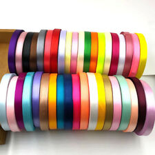 25 yards 6mm 1/4'' Satin Ribbon Wedding Party DIY hair Bow Craft Decor