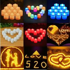 10Pc Hot Flameless Flickering LED Tea Light Candles Battery Operated Tea Lights