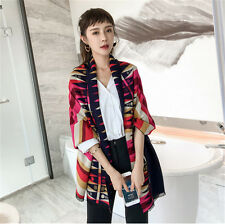 Winter Women Long Warm Soft Scarf Dual-use Thickening Oversized Scarves Shawl