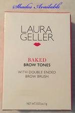Laura Geller Baked Eye Brow Tones With Double-Ended Brow Brush 0.03 oz -2 shades