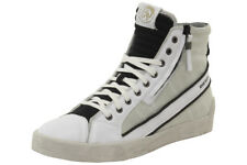 Diesel Men's D-String Plus Fashion White/Black High-Top Sneakers Shoes