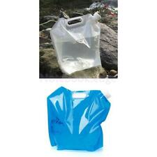 10L Collapsible Drinking Water Storage Bag Pouch Carrier Camping Hiking BBQ