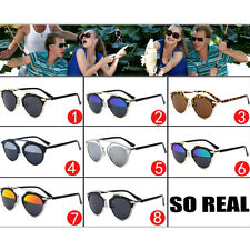 Fashion Mens Womens Outdoor Casual Sunglasses Round Mirror Eyewear Sport Glasses