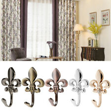 2Pcs Antique Wall Mounted Hooks Coat Robe Clothes Towel Hangers CURTAIN HOLDERS