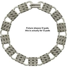 """BRACELET BLANKS Forms ~ Plain Silver 12 SQUARE PADS  ~ You glue cabs or beads 8"""""""