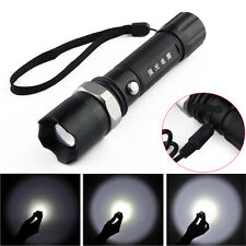 Super Bright 1000lm XM-L Q5 LED Adjustable Focus Flashlight Zoomable Torch Lamp