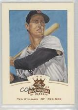 2002 Donruss Diamond Kings Bronze Foil #128 Ted Williams Boston Red Sox Card