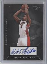 2010-11 Elite Black Box Status Signatures Autographed 63 DeMar DeRozan Auto Card