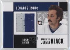 2010 In the Game Decades 1980s Game-Used Jersey Black #M-14 Bryan Trottier Card