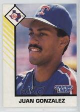 1993 Starting Lineup Cards #503076 Juan Gonzalez Texas Rangers Baseball Card