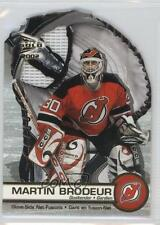2001 Pacific Prism Gold McDonald's Glove Side Net-Fusions #4 Martin Brodeur Card