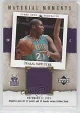 2005 Upper Deck Portraits Material Moments MM-JM Jamaal Magloire Milwaukee Bucks